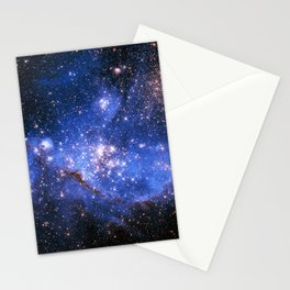 Blue Embrionic Stars Stationery Cards