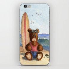 Surfer Bear iPhone & iPod Skin