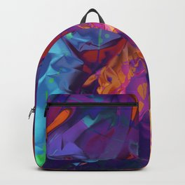 Dragon's Back. Dynamic, Blue, Purple and Orange Abstract. Backpack
