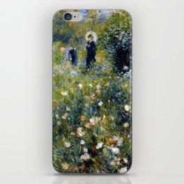 """Auguste Renoir """"Femme avec parasol dans un jardin"""" iPhone Skin"""