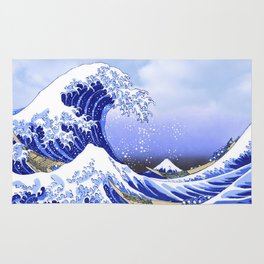 Surf's Up! The Great Wave Rug