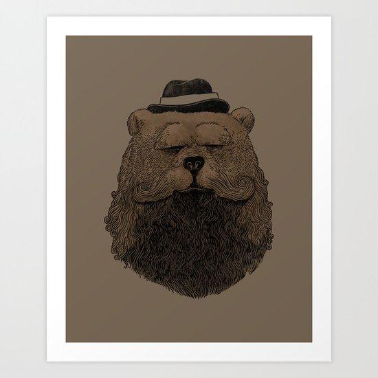 Grizzly Beard Art Print