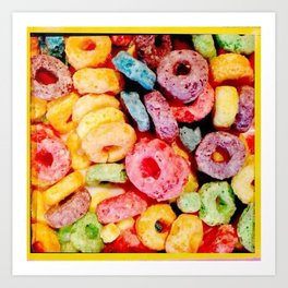 Fruity Cereal Loops Art Print