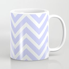 Periwinkle Blue Chevron Stripes Coffee Mug
