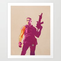 the winter soldier Art Prints featuring Winter Soldier by Simon Alenius