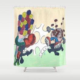 Flowers Versus Chocolate Shower Curtain