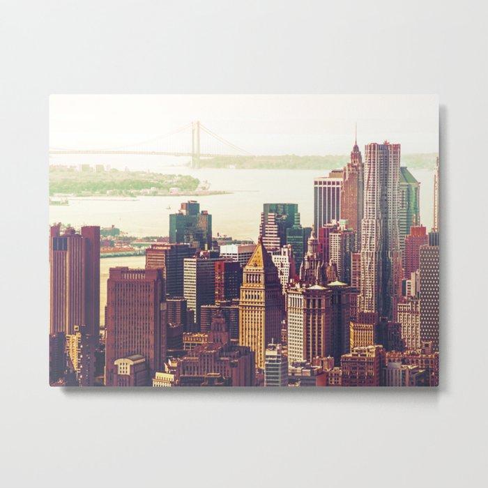 New York City Skyline Colors Metal Print