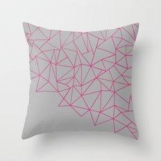 Ab Storm Hot Grey Throw Pillow
