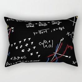 math blackboard Rectangular Pillow