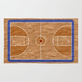 Wooden Basketball Court Rug