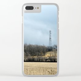 Talking with God ~ Highway 401 Landscape Series   Nadia Bonello Clear iPhone Case