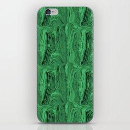 Emerald marble swirl iPhone Skin