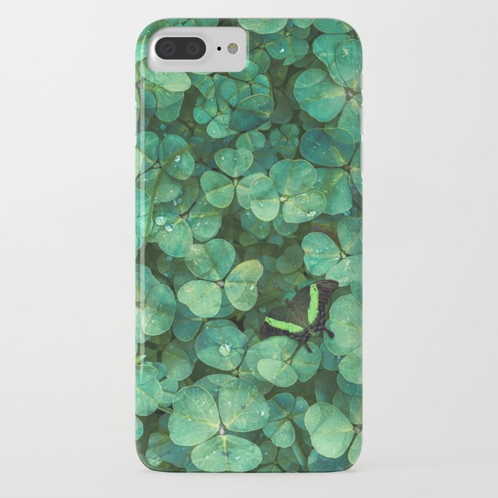 Lucky Green Clovers, St Patricks Day pattern phone case by MiniMe