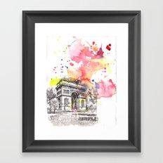 Arch De Triumph Paris France Framed Art Print