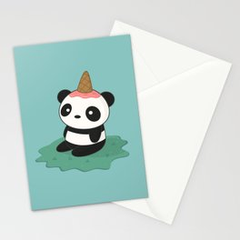 Kawaii Cute Panda Ice Cream Stationery Cards