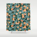Dear Clementine - oranges teal by Crystal Walen by crystalwalen