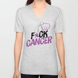 F*ck Cancer Unisex V-Neck