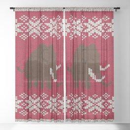Woolly Woolly Mammoth Sheer Curtain