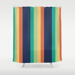 Happy Stripes Shower Curtain