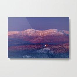 Purple Mountains Majesty Cardigan and Firescrew Metal Print