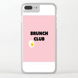 brunch club Clear iPhone Case