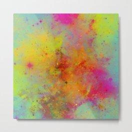 Rainbow Galaxy - Abstract, rainbow coloured space painting Metal Print