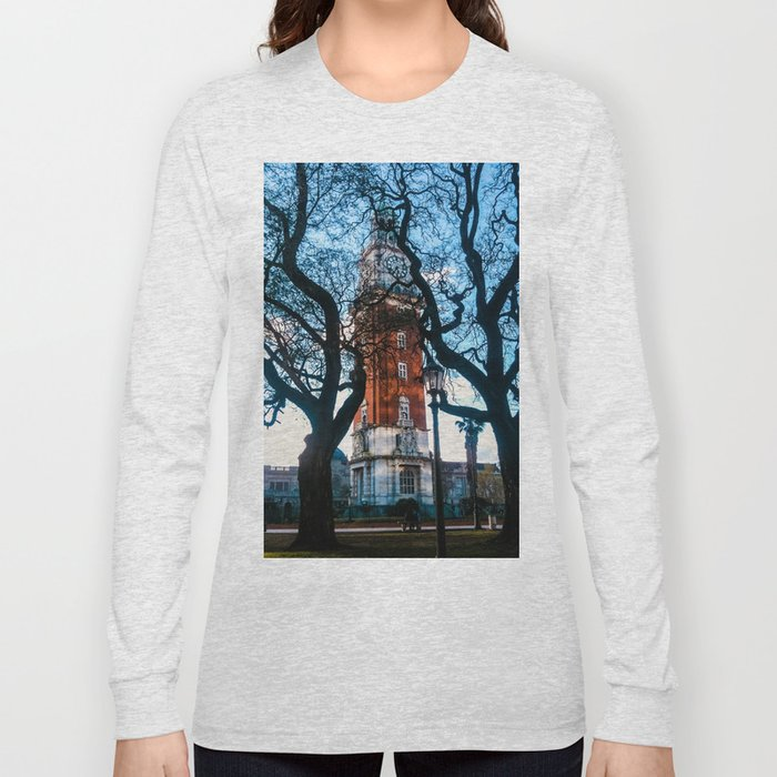 Building with Clock in Buenos Aires Long Sleeve T-shirt
