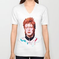 david bowie V-neck T-shirts featuring Bowie by Anna McKay