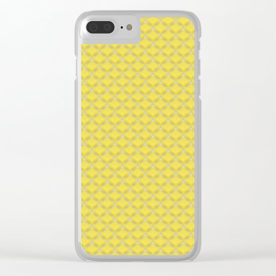 Small scallops in buttercup yellow Clear iPhone Case