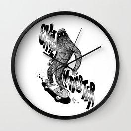 SKATE MONSTER  Wall Clock