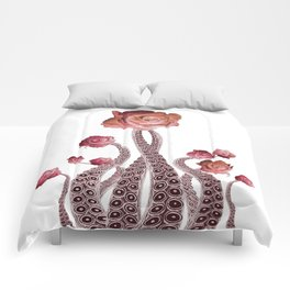 Floral Octopus Tentacles with Roses Comforters