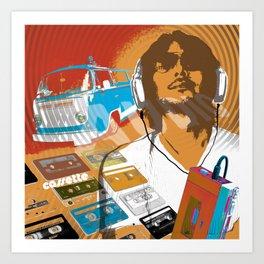 cassette man Art Print