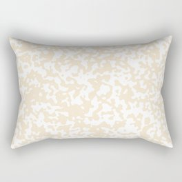 Small Spots - White and Champagne Orange Rectangular Pillow