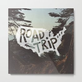 Road Trip USA - big sur Metal Print