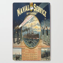 Vintage poster - Naval Service of Canada Cutting Board