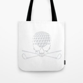Unique Golfing Tee For Golfers With Illustration Of Skull Golf Ball T-shirt Design Field Swing Baby Tote Bag