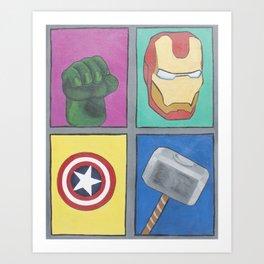 Los 4 Fantasticos Art Print