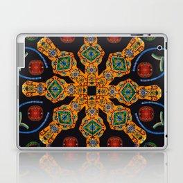 Gold Mandala Black Laptop & iPad Skin