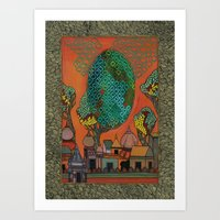 The Qalam Series: Building Miniature Art Print