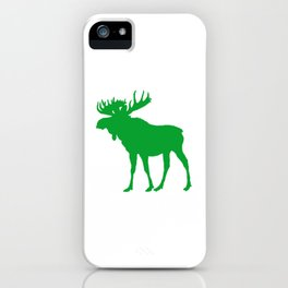 Moose: Green iPhone Case