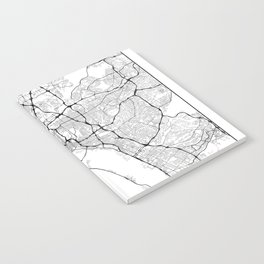 Minimal City Maps - Map Of San Diego, California, United States Notebook