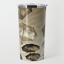 Umbrella sky - B/W Travel Mug