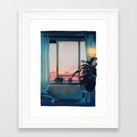 loish Framed Art Prints featuring sunset by loish
