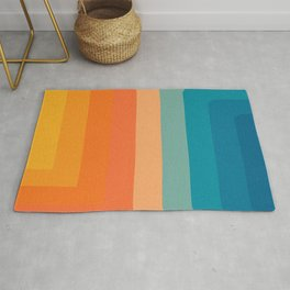 Retro 70s Color Lines Rug