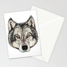 Wolf Mask Stationery Cards