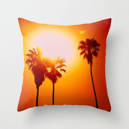 So. Cal. Palm Trees Throw Pillow