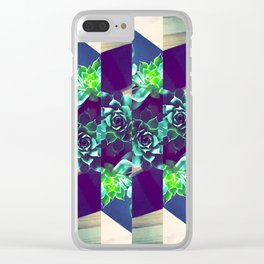 Home Pattern Clear iPhone Case