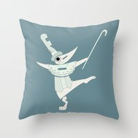 soul eater Throw Pillows featuring fools! excalibur soul eater by Rebecca McGoran