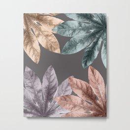 Vintage Leaf Design 4 Metal Print