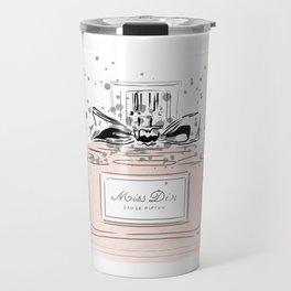 Perfume bottle with bow Travel Mug